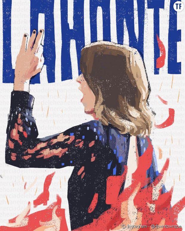 """Les illustrations féministes et """"Adèle Haenel power"""" de @downtownzoe."""
