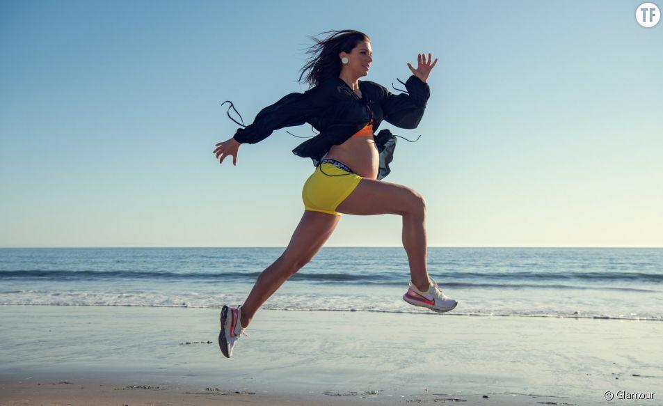 La footballeuse Alex Morgan enceinte dans le magazine Glamour