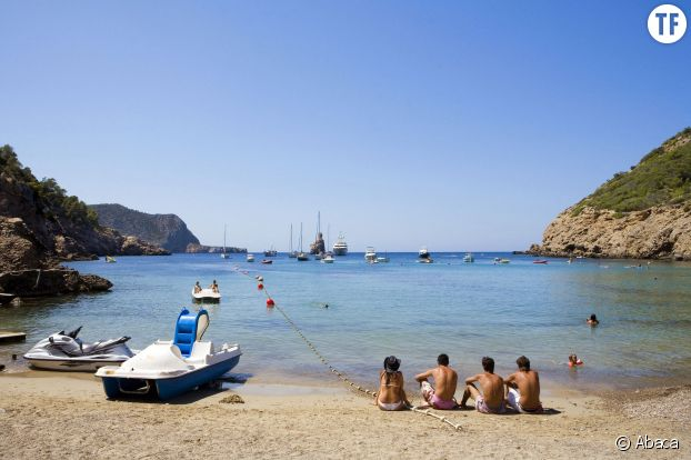 Sur les plages d'Ibiza, en Espagne.