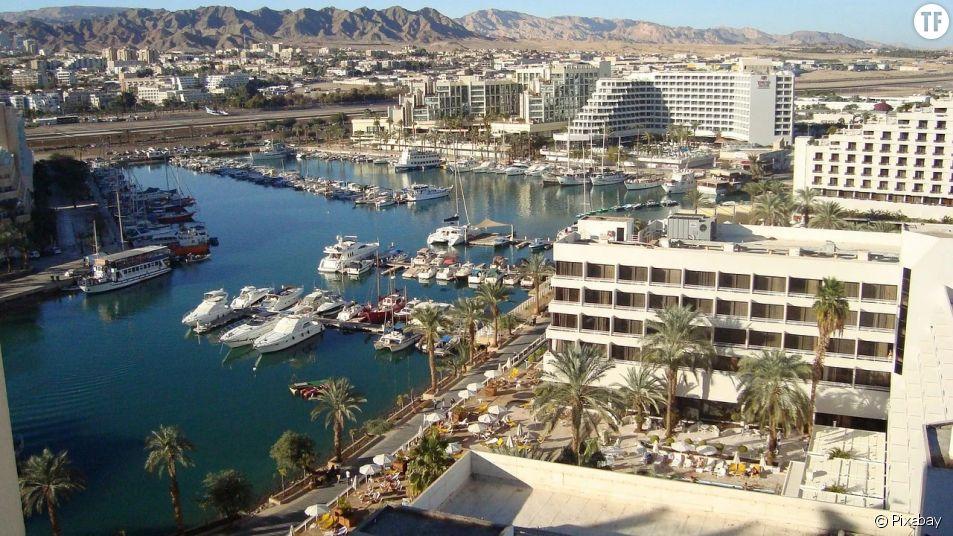 Port d'Eilat en Israël où une adolescente de 16 ans a été violée par une trentaine d'hommes