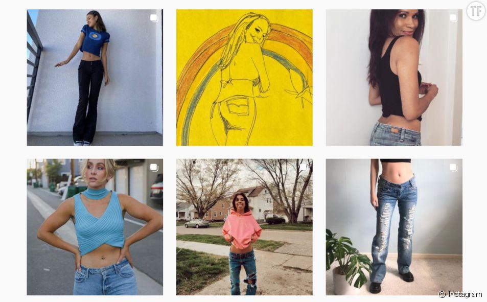 Résultats du mot clé #lowrisejeans sur Instagram.