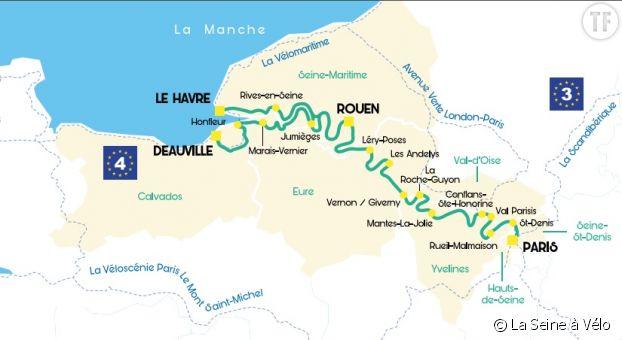 Carte La Seine à Vélo
