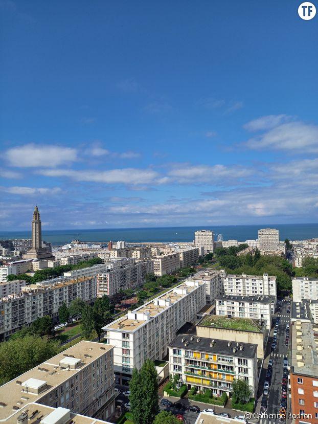 Vue du Havre du 17e étage de l'Hôtel de ville