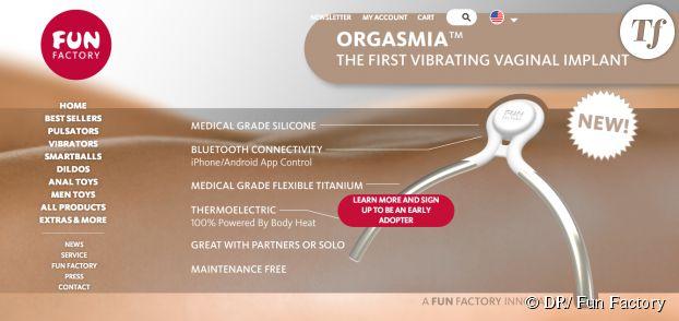 La présentation d'Orgasmia sur le site de Fun Factory