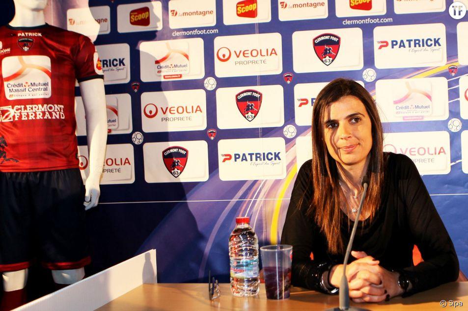Helena Costa a été la première femme à entraîner une équipe de foot professionnelle (Clermont-Ferrand). Ici, en mai 2014.