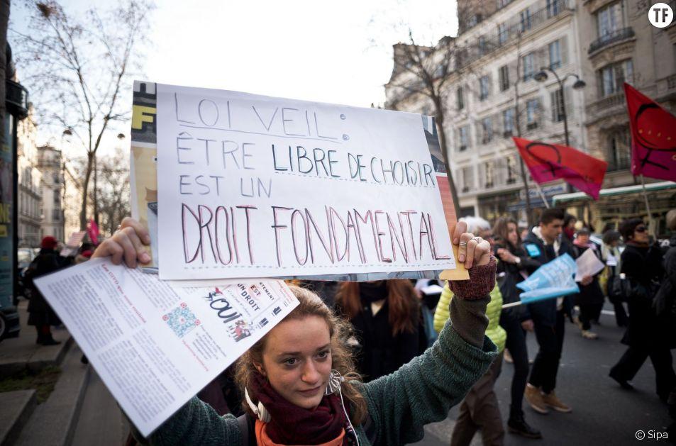Manifestation le 17 janvier 2015 à Paris pour célébrer les 40 ans de la loi Veil sur la légalisation de l'avortement.