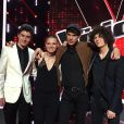Les quatre finalistes de The Voice 4 : Anne Sila, Lilian, David et Côme