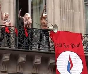 Défilé du 1er mai : la vidéo des Femen pendant le discours de Marine Le Pen