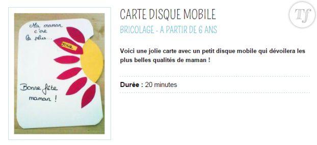 La carte disque mobile qui distribue des compliments.