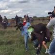 Le geste atroce de la journaliste hongroise