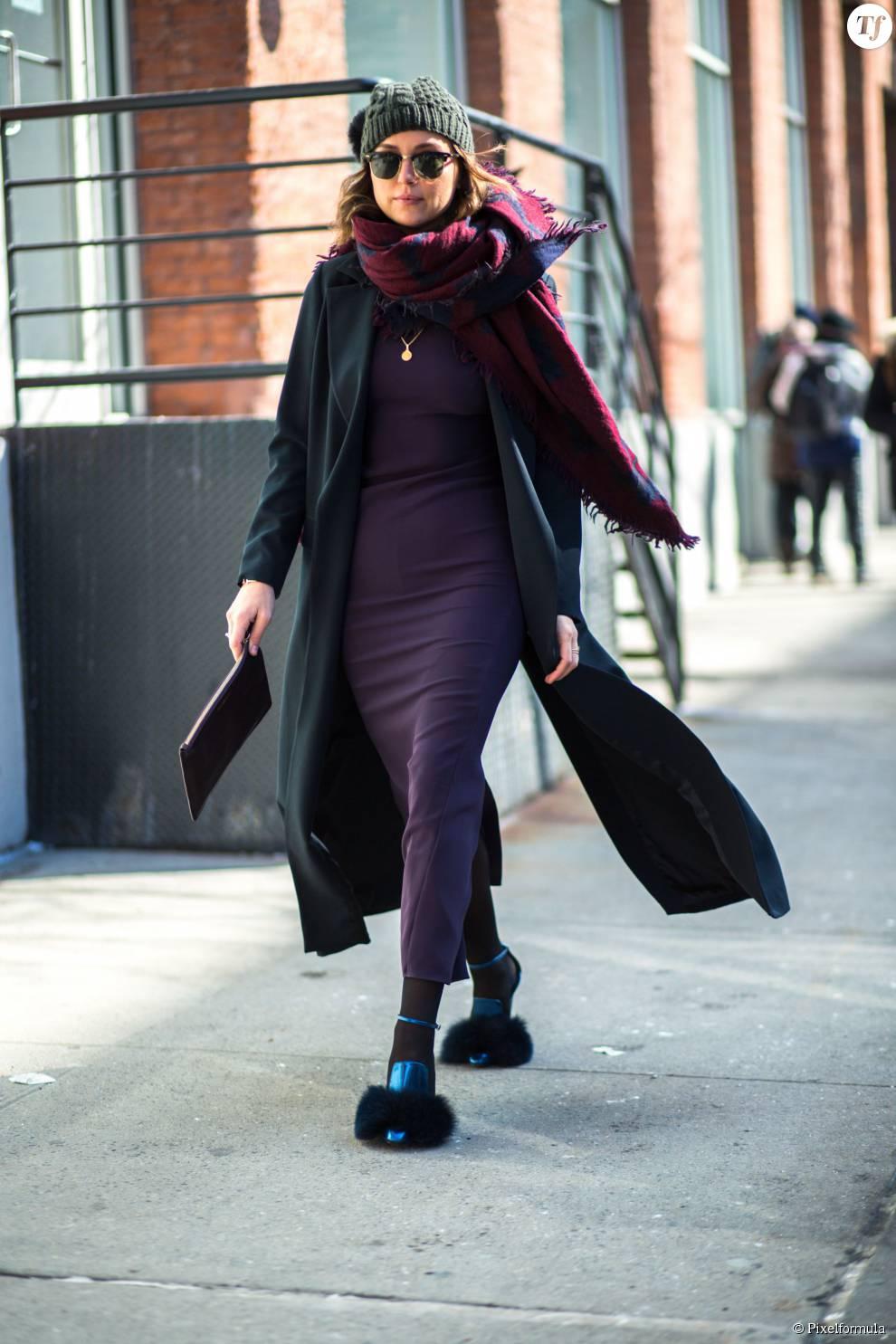 Comment porter une robe longue hiver