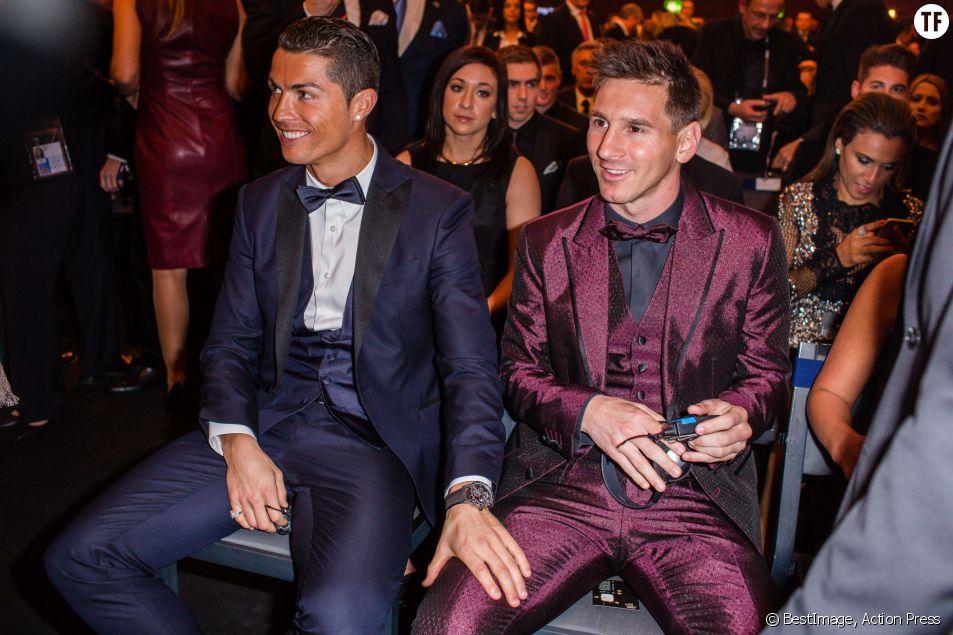 Lionel Messi et Cristiano Ronaldo, au Ballon d'or 2014