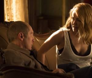 Lis (Megan Boone) et Red (James Spader) au début de la saison 3 de The Blacklist