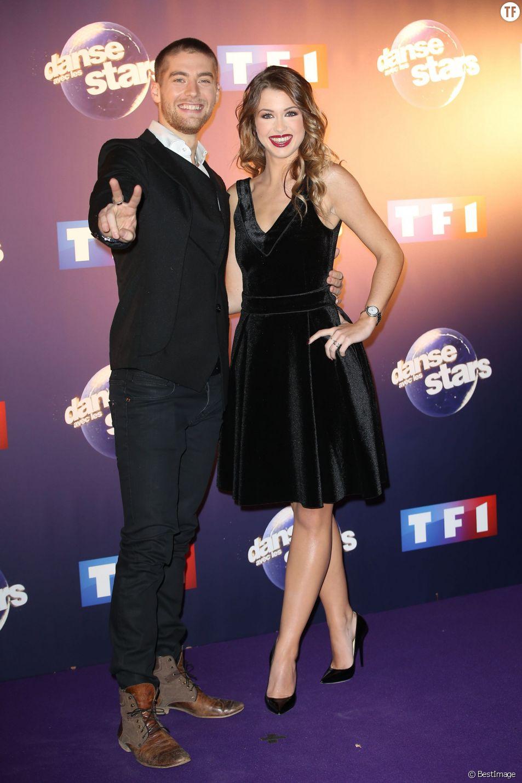 EnjoyPhoenix (Marie Lopez) et Yann-Alrick Mortreuil-Henry - Photocall Danse avec les stars 6 devant TF1 à Boulogne-Billancourt, le 7 octobre 2015.