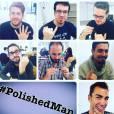 """Ces hommes se vernissent un ongle pour apporter leur soutien à l'initiative """"The Polished Man """", qui lutte contre les violences sexuelles imposées aux enfants."""