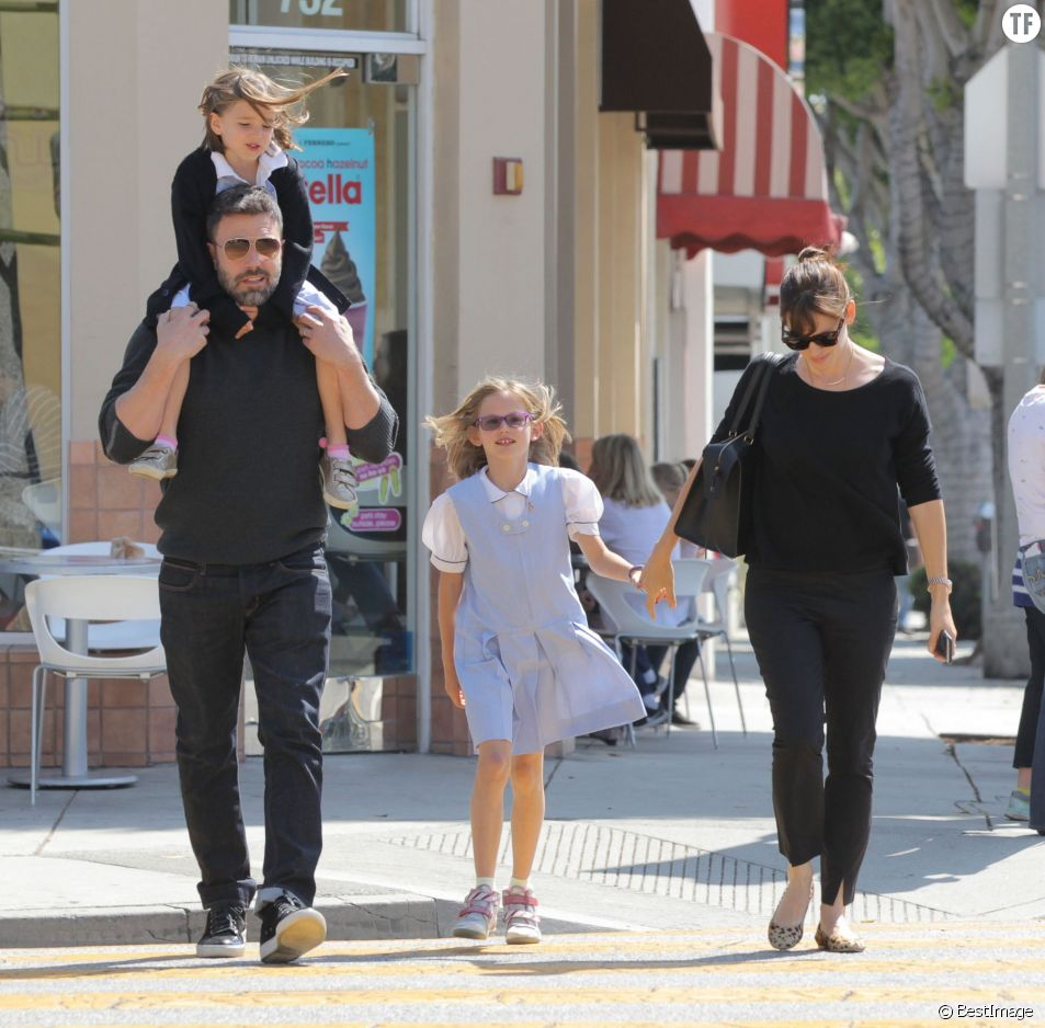 Jennifer Garner et ben Afflcek avec leurs filles
