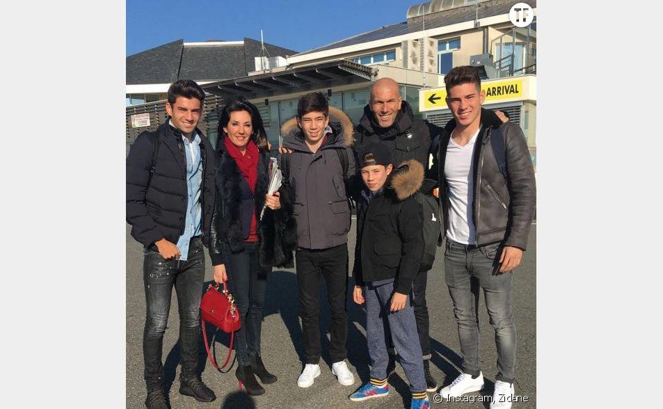 Toute la famille de Zidane