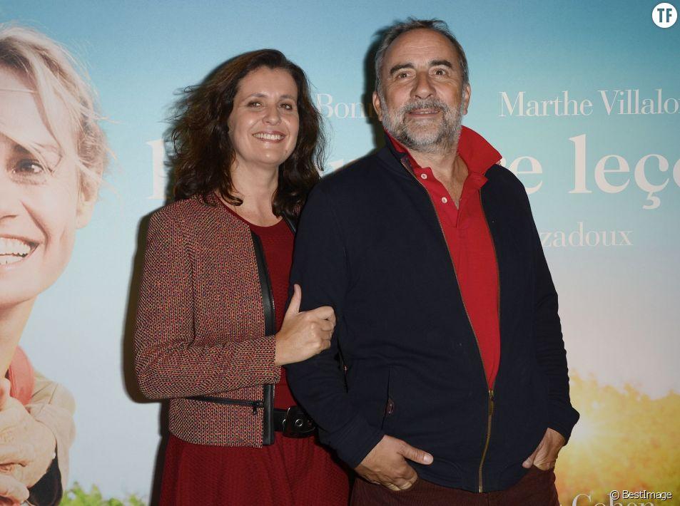 """Pascale Pouzadoux et son mari Antoine Duléry - Avant-première du film """"La Dernière Leçon"""" au cinéma UGC Bercy à Paris, le 3 novembre 2015. © Coadic Guirec / Bestimage"""