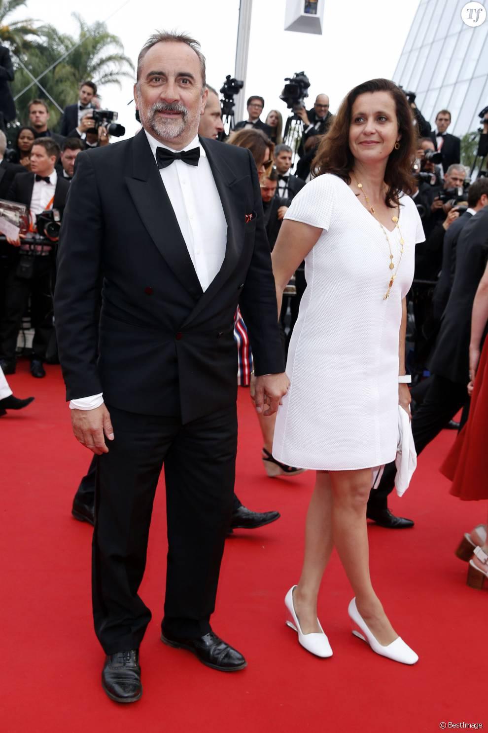 """Antoine Duléry et sa femme Pascale Pouzadoux - Montée des marches du film """"Mad Max : Fury Road"""" lors du 68 ème Festival International du Film de Cannes, à Cannes le 14 mai 2015."""