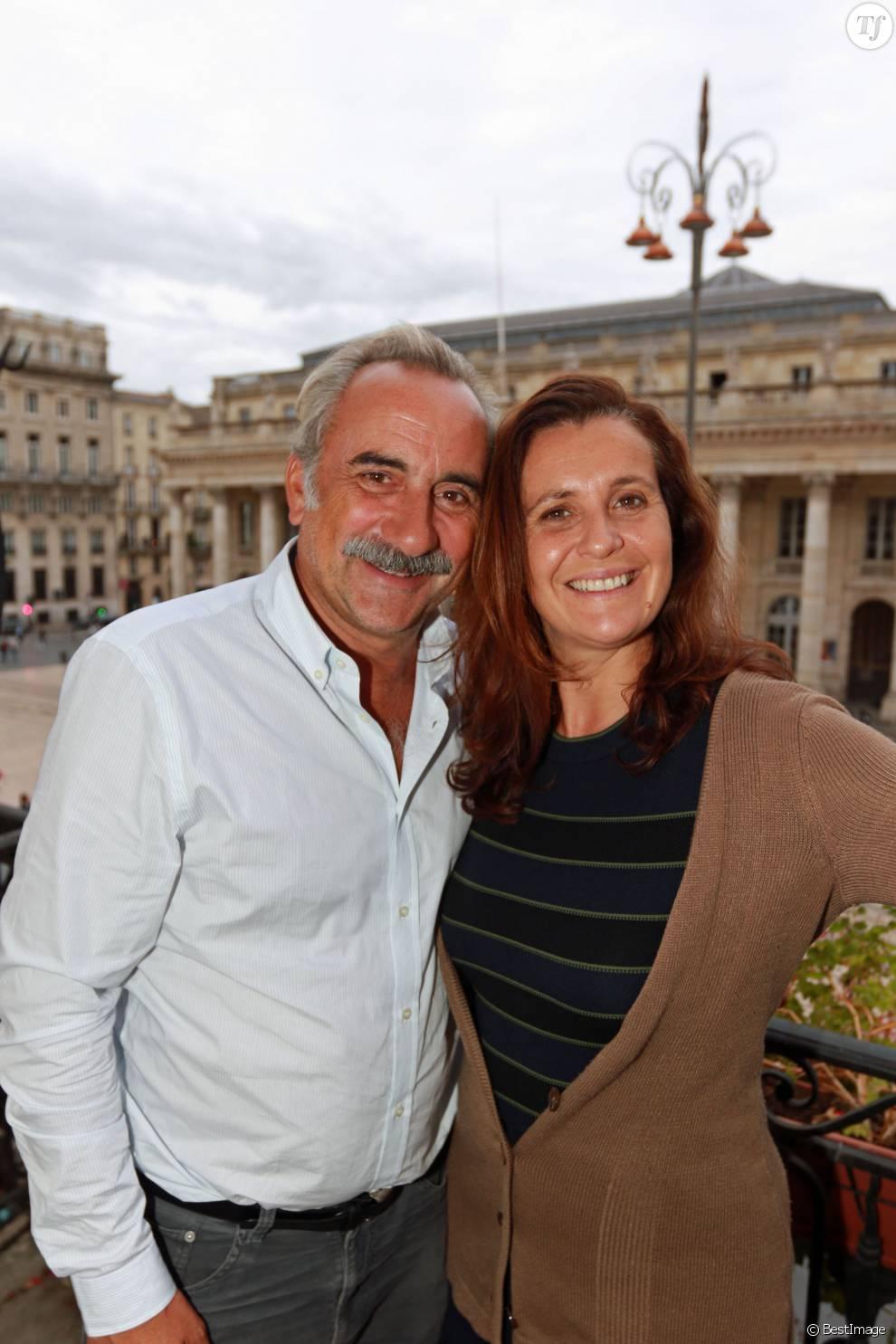 """Antoine Duléry et sa femme Pascale Pouzadoux - Présentation du film """"La dernière leçon"""" à Bordeaux le 16 septembre 2015."""