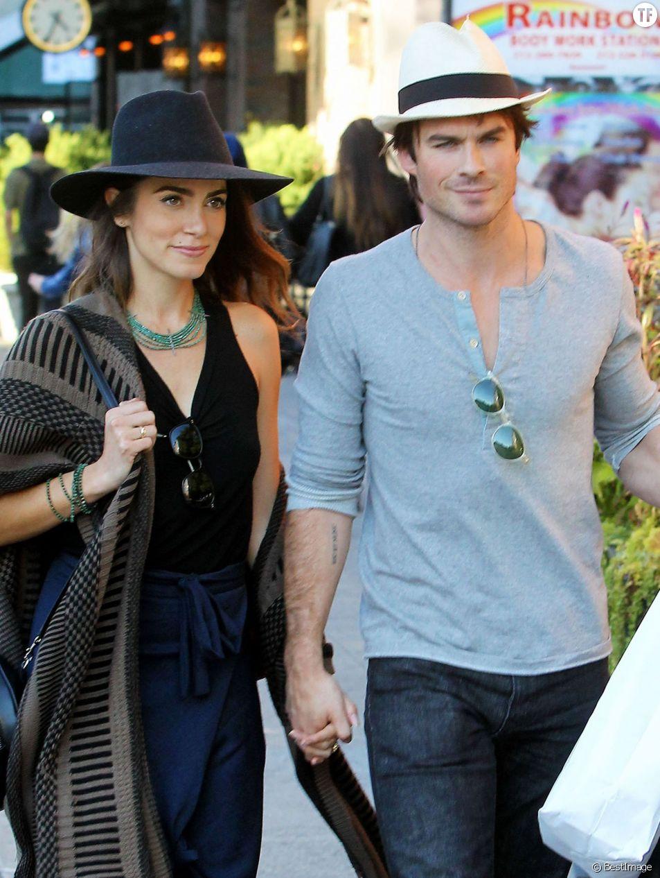 Ian Somerhalder et sa femme Nikki Reed se promènent dans les rues de New York, le 12 octobre 2015