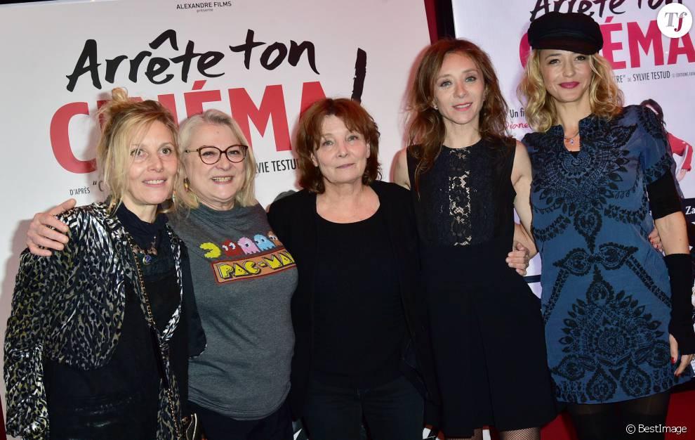 """Diane Jurys et l'équipe du film """"Arrête ton cinéma"""""""