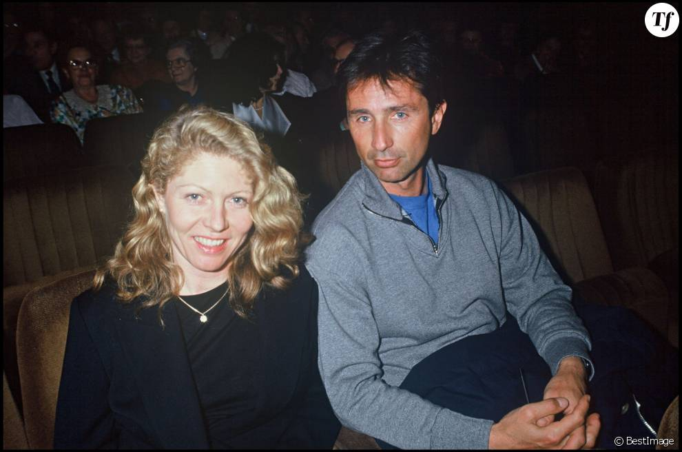 thierry lhermitte et sa femme h l ne en 1992. Black Bedroom Furniture Sets. Home Design Ideas