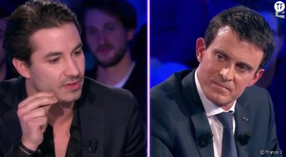 Manuel Valls et Jérémy Ferrari dans On n'est pas couché