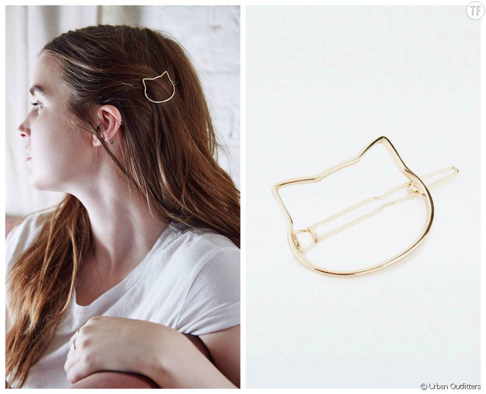 Barrette chat Urban Outfitters, 9 euros
