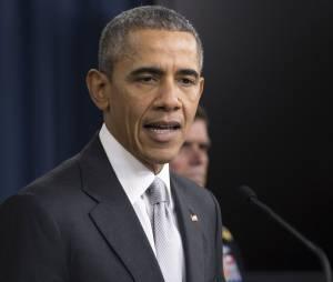 Le président des Etats-Unis Barack Obama - Réunion du Conseil National de Sécurité à propos de l'engagement contre l'État Islamique à Arlington. Le 14 décembre 2015