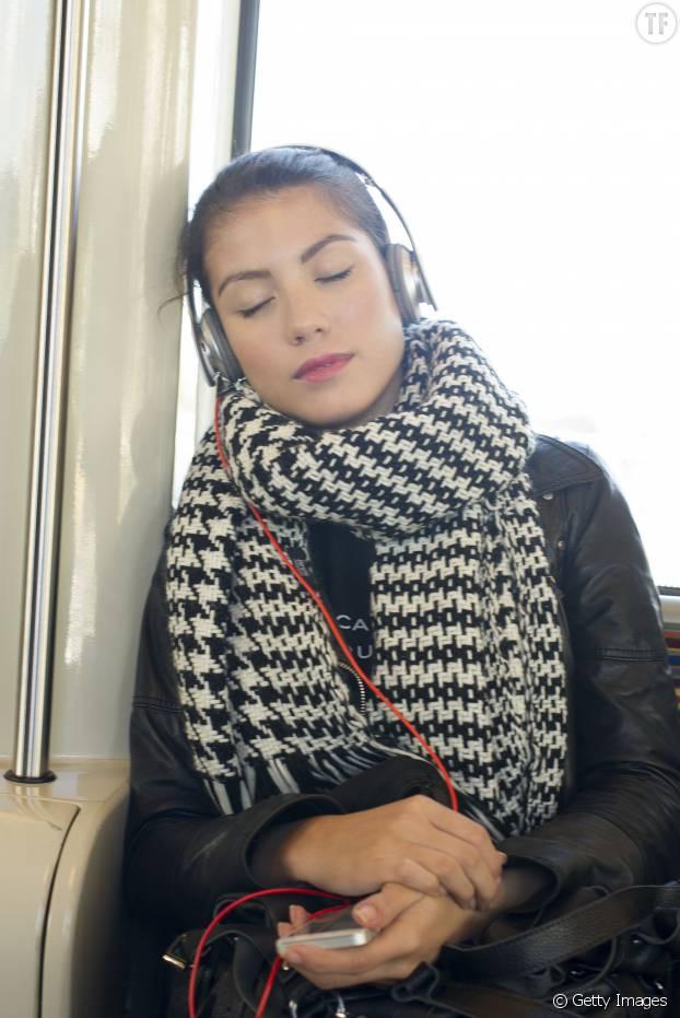 Je médite dans les transports