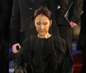 Céline Dion - Sorties des obsèques nationales de René Angélil en la Basilique Notre-Dame de Montréal, le 22 janvier 2016.© Morgan Dessales/Bestimage