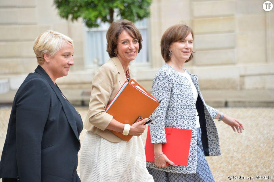 Pascale Boistard, Marisol Touraine et Laurence Rossignol à l'Élysée en 2014