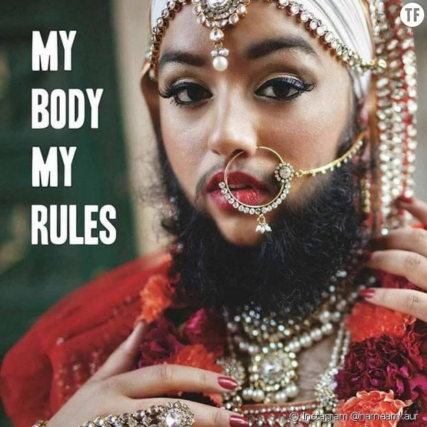 Harnaam Kaur, femme à barbe harcelée devenue militante anti-harcèlement, anti-racisme, body positive et féministe... et aussi mannequin.
