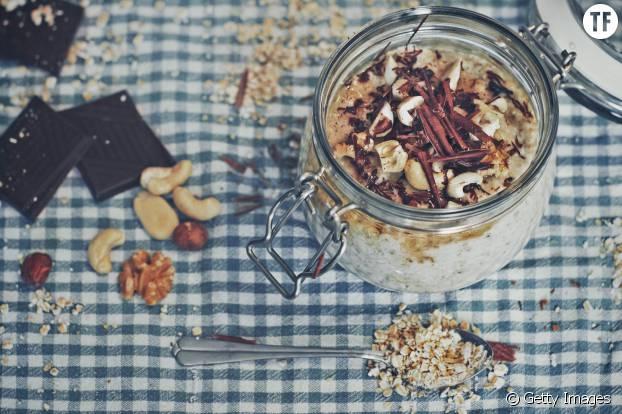 Porridge avec copeaux de chocolat