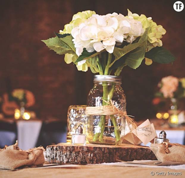 5 jolies id es avec des mason jars pour pimper la d co de son mariage - Des idees de decoration ...
