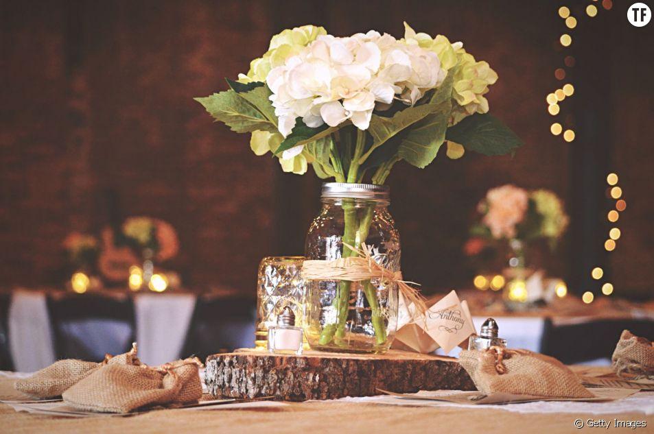 Décoration de mariage : 5 idées déco avec des Mason jars (bocaux)