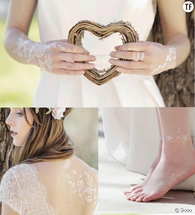 La nouvelle collection de tatouages éphémères spécial mariage du site Sioou.