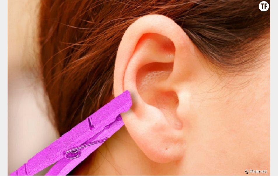 Placer une pince à linge sur votre oreille pourrait vous aider à soulager bon nombre de douleurs.