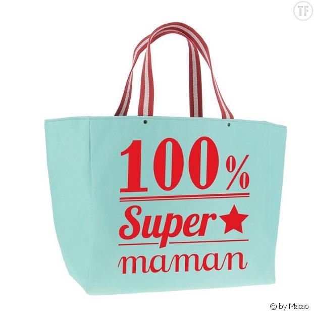 """Cabas """"100% Super Maman by Matao"""""""