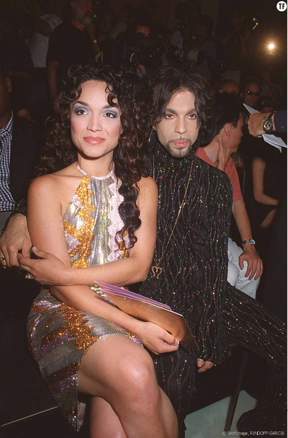 Prince et sa première épouse Mayte en 1999