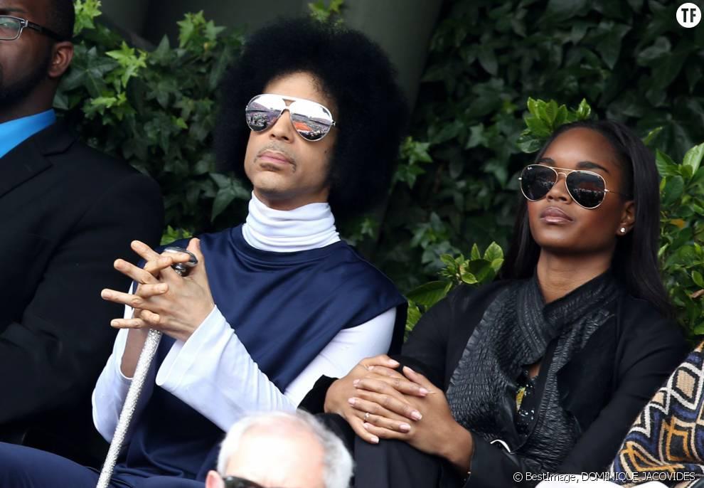 Le chanteur Prince et sa fiancée Damaris Lewis en 2014