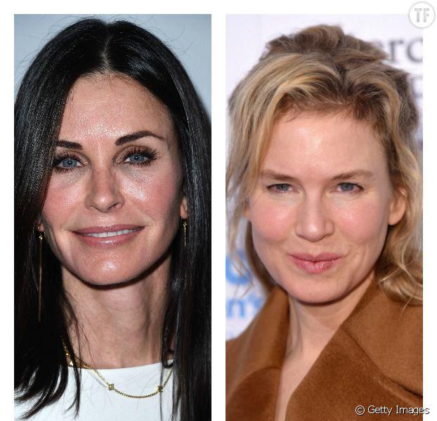 Courteney Cox et Renée Zellweger moquées à cause de la chirurgie esthétique