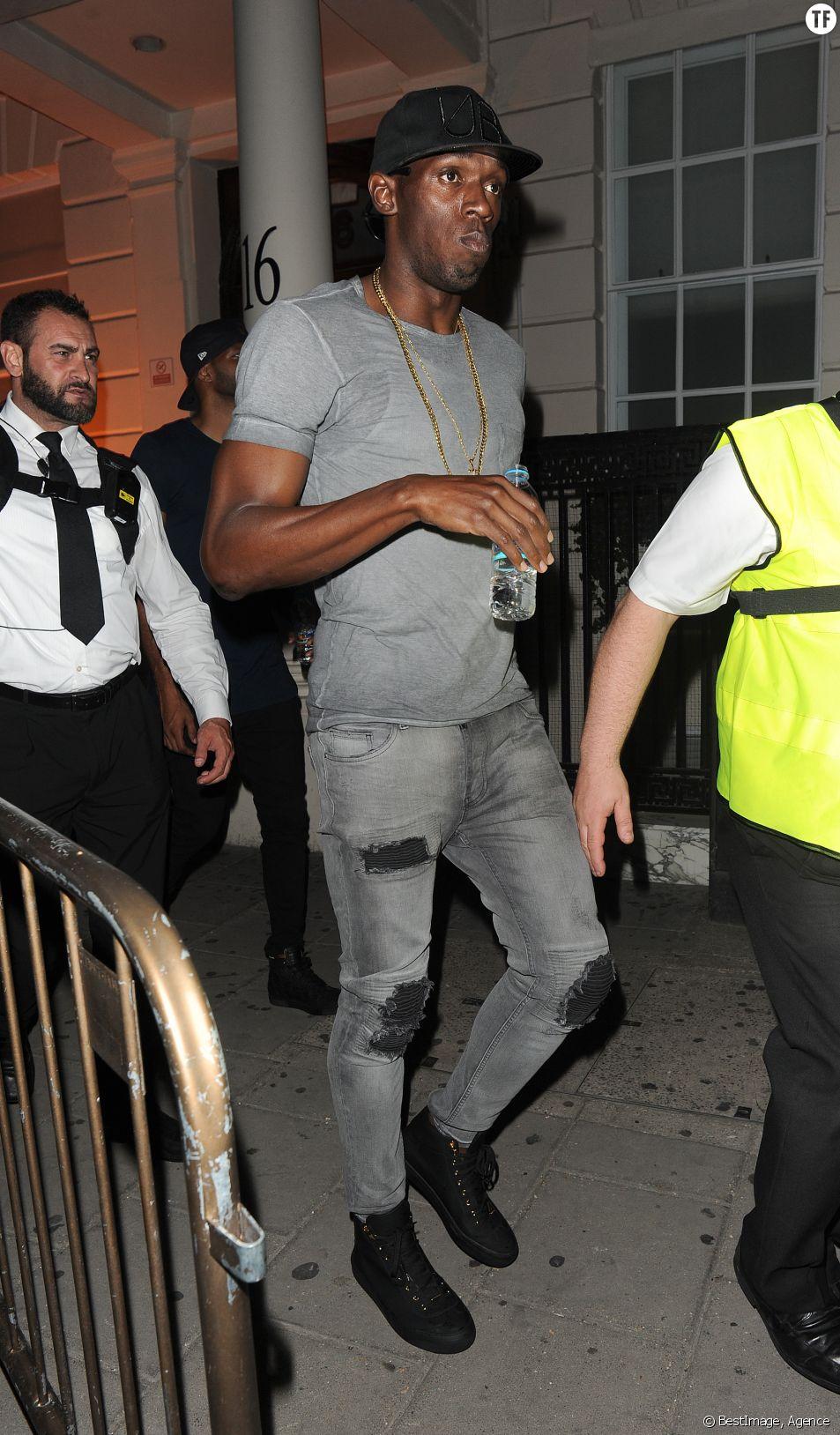 Usain Bolt de sortie à Londres le 23 août 2016