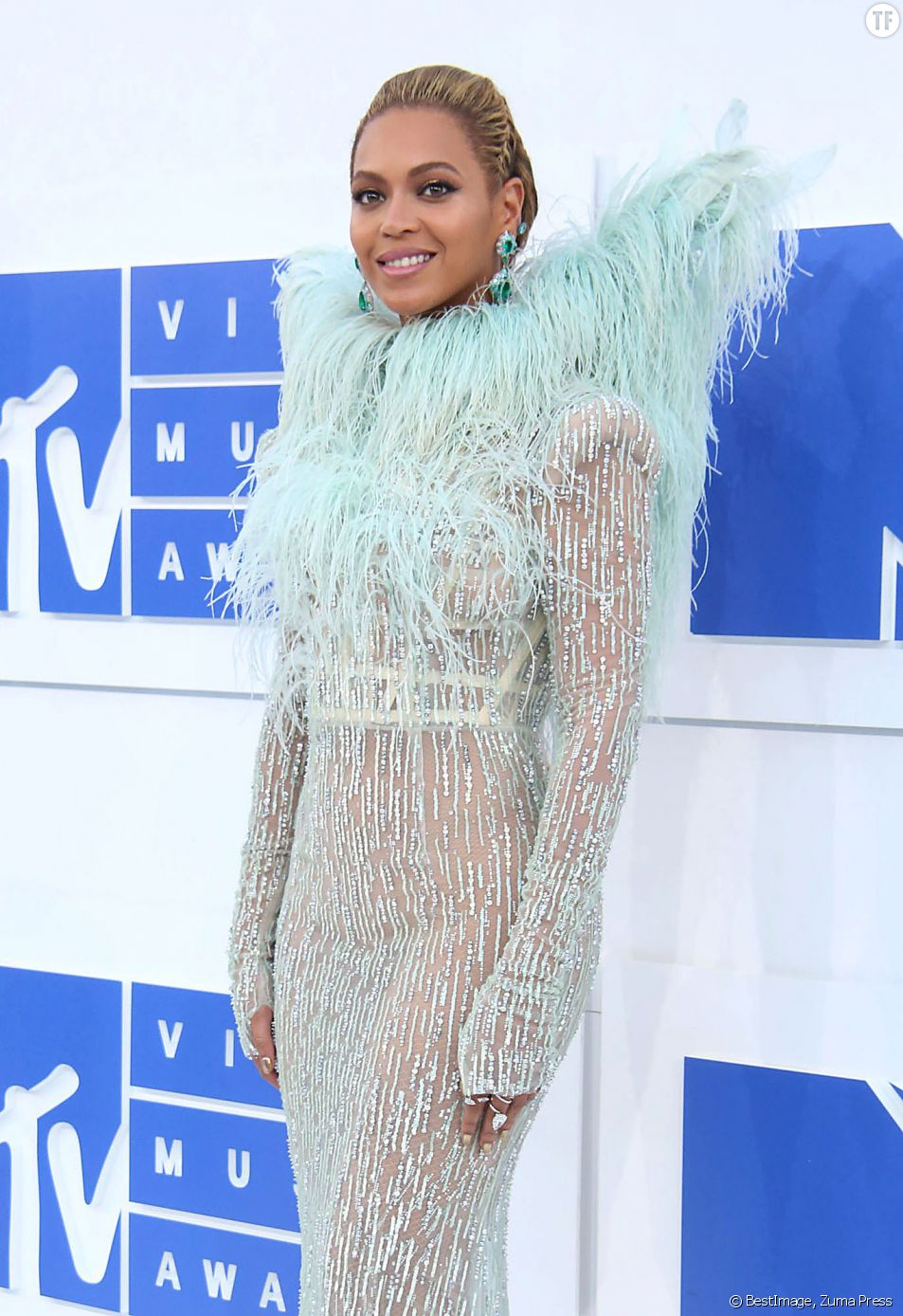 Beyonce Knowles à la soirée des MTV Video Music Awards 2016 au Madison Square Garden à New York, le 29 août 2016