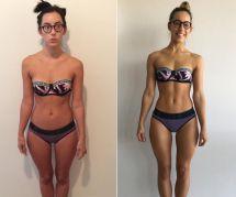 Cette blogueuse fitness révèle le secret étonnant entre ces deux photos