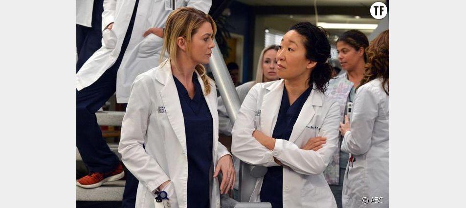 Ellen Pompeo et Sandra Oh dans la série Grey's Anatomy