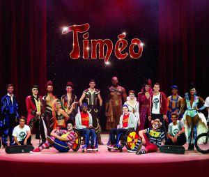 La troupe de la circomédie musicale Timéo