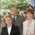Jacques, Bernadette et Claude Chirac en 2005