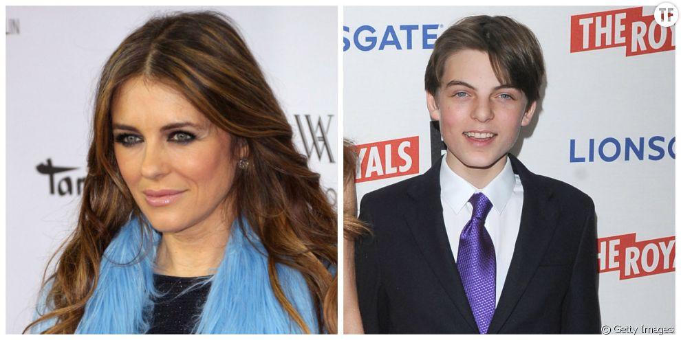 Liz Hurley et son fils Damian